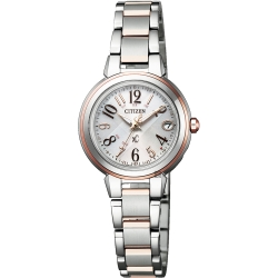 CITIZEN 星辰 XC 光動能電波萬年曆女錶-雙色版/25mm(ES9434-53X)