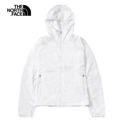 The North Face北面女款白色防潑水防曬防風外套 49B4FN4