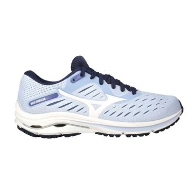 MIZUNO WAVE RIDER 24 女慢跑鞋-3E WIDE-寬楦 美津濃 J1GD200614 粉紫白丈青