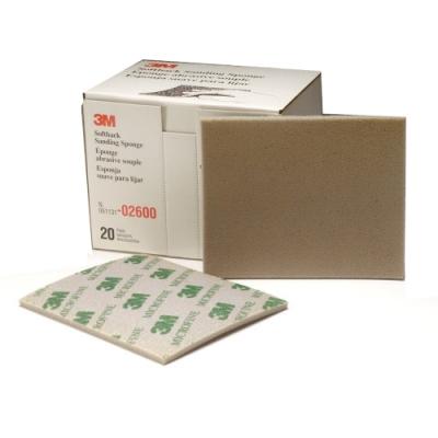 OB001 3M 單面型研磨海綿 砂紙 乾濕兩用 型號2600 極細 2000# 綠