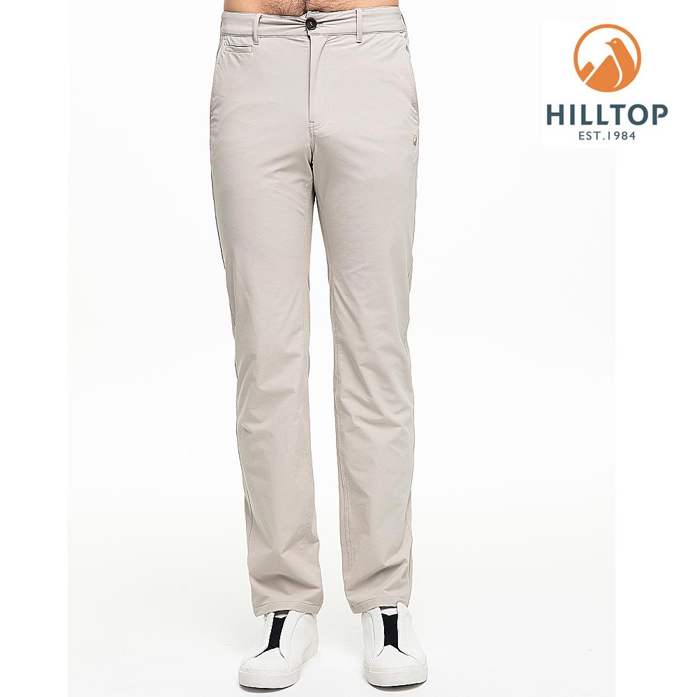 【hilltop山頂鳥】男款超潑水抗UV彈性長褲S07MB9城堡灰