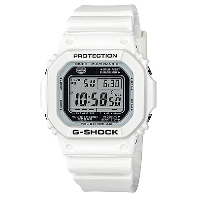 G-SHOCK 夏季白色主題電波運動錶(GW-M5610MW-7)-白/46.7mm