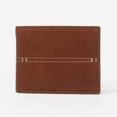 CALTAN-帥氣皮革縫線短夾-071769cd