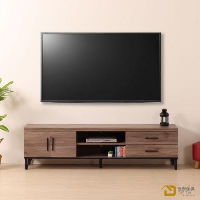 D&T德泰傢俱 BROOK淺胡桃木6尺電視櫃-180.2x40x49.3cm
