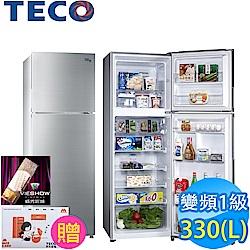 東元 330L 1級變頻2門電冰箱