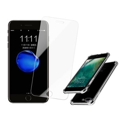 [買保護貼送手機殼] iPhone 7 8 Plus 非滿版 9H鋼化玻璃 防刮 手機 保護貼 (iPhone7Plus保護貼 iPhone8Plus保護貼 )