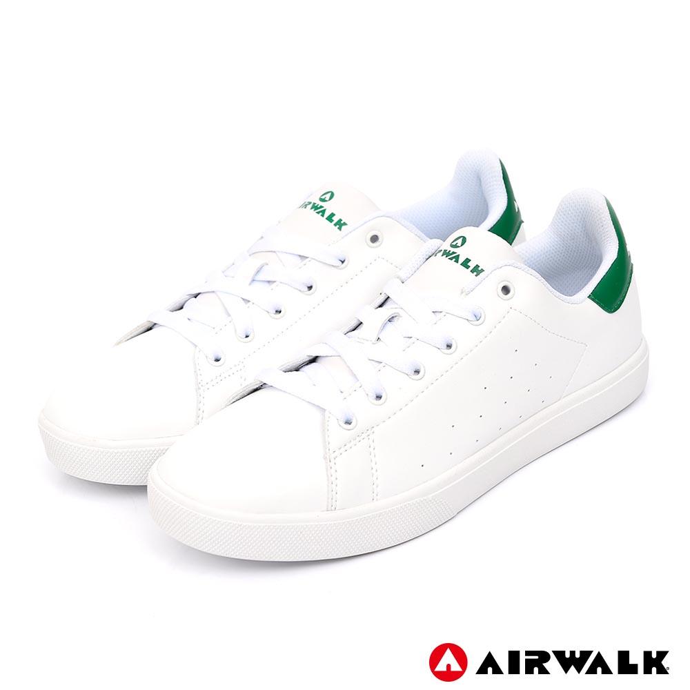 【AIRWALK】經典潮流休閒鞋-男款-白綠