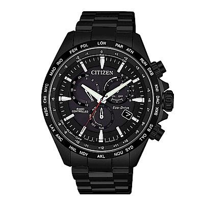 CITIZEN 浩瀚時空電波光動能腕錶/CB5835-83E