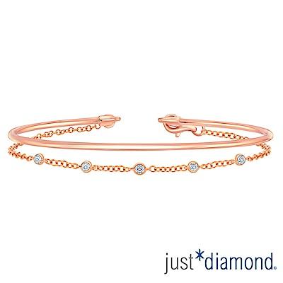 Just Diamond 18K玫瑰金鑽石手環-Perfect Circle