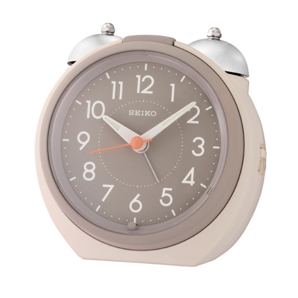 SEIKO 日本精工 大聲公 滑動式秒針 貪睡 鬧鐘(QHK054C)灰/10.5X11.2cm