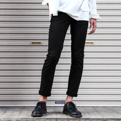 窄管褲素色長褲褲子SKINNY(11色) ZIP日本男裝