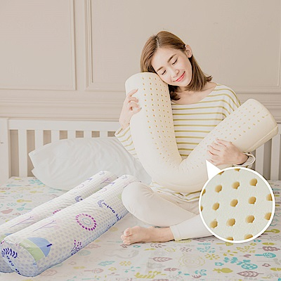 米夢家居-夢想家園系列-馬來西亞進口純天然長筒乳膠枕-附純棉布套-白日夢