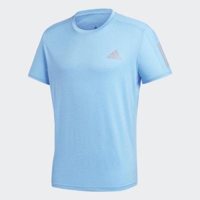 ADIDAS 上衣  短袖上衣 運動 慢跑 健身 男款 藍 GC7874