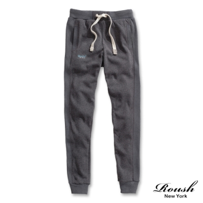 Roush 女生over size超保暖海貍毛美式縮口棉褲(3色)