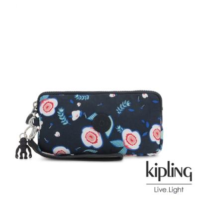 Kipling 寧靜夏夜花卉手拿包-LOWIE