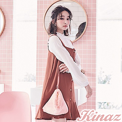 KINAZ 糖果派對手提萬用包-棉花糖粉-雪絨Q萌系列