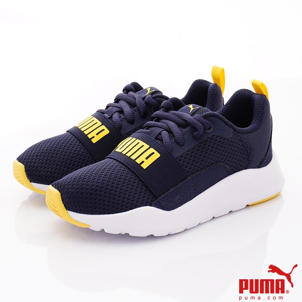 PUMA童鞋 綁帶運動款 TH66903-05藍(中小童段)