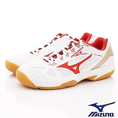 Mizuno美津濃-止滑羽球運動鞋款-ON94560白紅(男段)