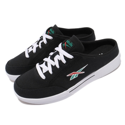 Reebok 休閒鞋 Slice Mule CVS 套腳 男女鞋 基本款 舒適 簡約 帆布 半包拖 情侶鞋 黑 白 FX3921