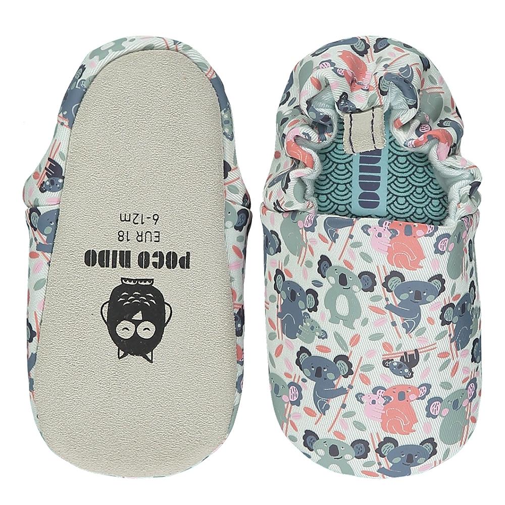 英國 POCO NIDO 手工嬰兒鞋 (抱抱無尾熊 - 深情藍)【2021新款】