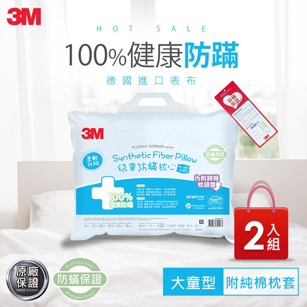 3M 大童防蹣枕心(9-13歲-附純棉枕套)2入組