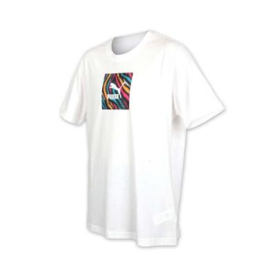 PUMA 男流行系列短袖T恤-慢跑 路跑 白彩色