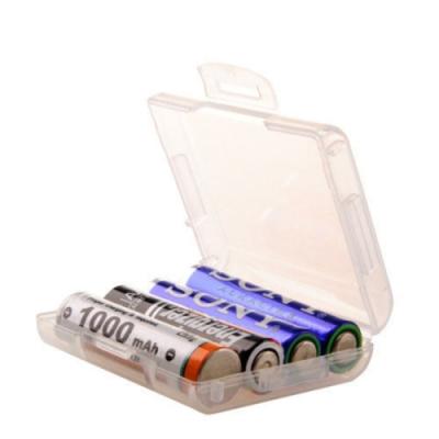 Datastone 電池收納盒 4號電池 4入裝收納盒/白透明色/台灣製造 X10 個