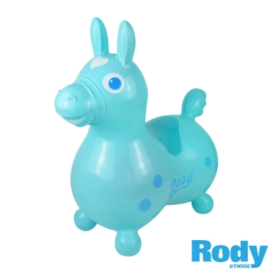 RODY跳跳馬-粉藍色(義大利原裝進口~寶寶騎乘玩具)