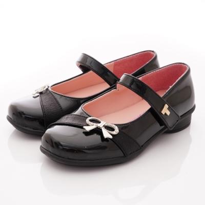 TOPUONE童鞋 水鑽蝴蝶結公主鞋款 SI19562黑(中小童段)