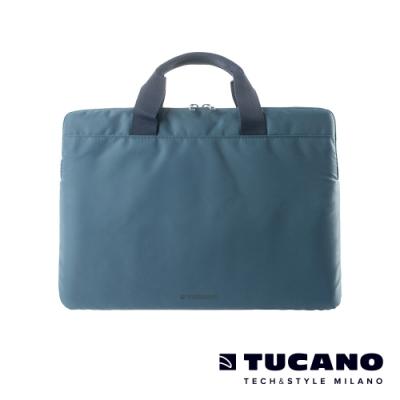 TUCANO MINILUX 極簡輕便尼龍手提內袋 13-14吋(可側背)-灰藍