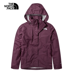 The North Face北面女款紅色戶外防水透氣衝鋒衣|3VPRHBM