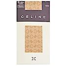 CELINE 繽紛品牌LOGO花紋半統襪(膚)
