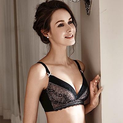 LADY 愛情天使系列 B-F罩 調整型無鋼圈胸罩(沉醉黑)