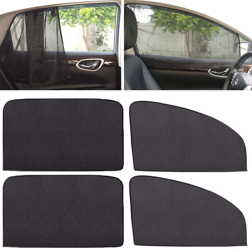 神秘黑 磁吸式車用遮陽簾(前窗2片+後窗2片)