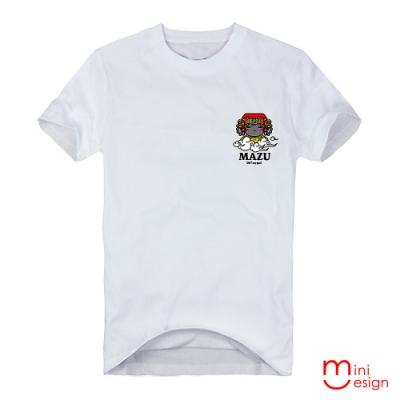 (男款)MAZU_OH my god 插畫潮流設計短T 三色-Minidesign