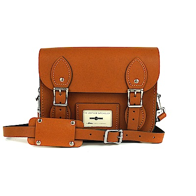 The Leather Satchel 英國手工牛皮劍橋包 肩背 後背包 倫敦棕 8.5吋