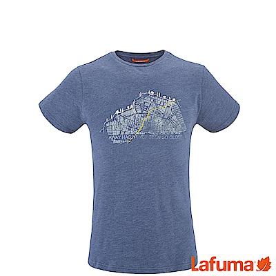 LAFUMA-男 排汗短袖T恤-LFV113276730-深藍