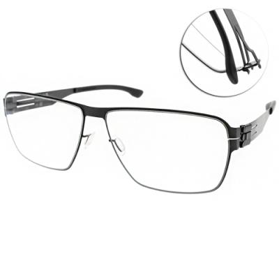 ic!berlin眼鏡 薄鋼 簡約大框款/霧黑#THORSTI S. BLACK