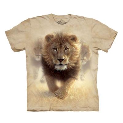 摩達客-美國The Mountain揚塵獅王 純棉環保短袖T恤