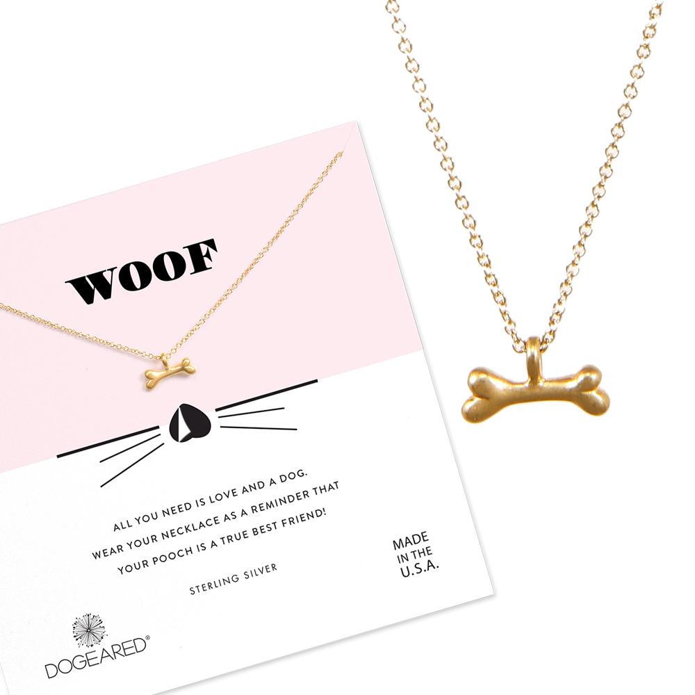 Dogeared 美國品牌 魅力小骨頭 金色許願項鍊