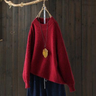 單色內搭毛衣高領針織衫寬鬆套頭長袖上衣-設計所在