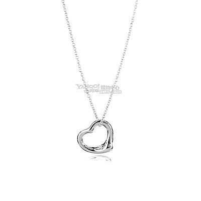 Tiffany&Co. Open Heart 925純銀愛心墜飾項鍊(小)