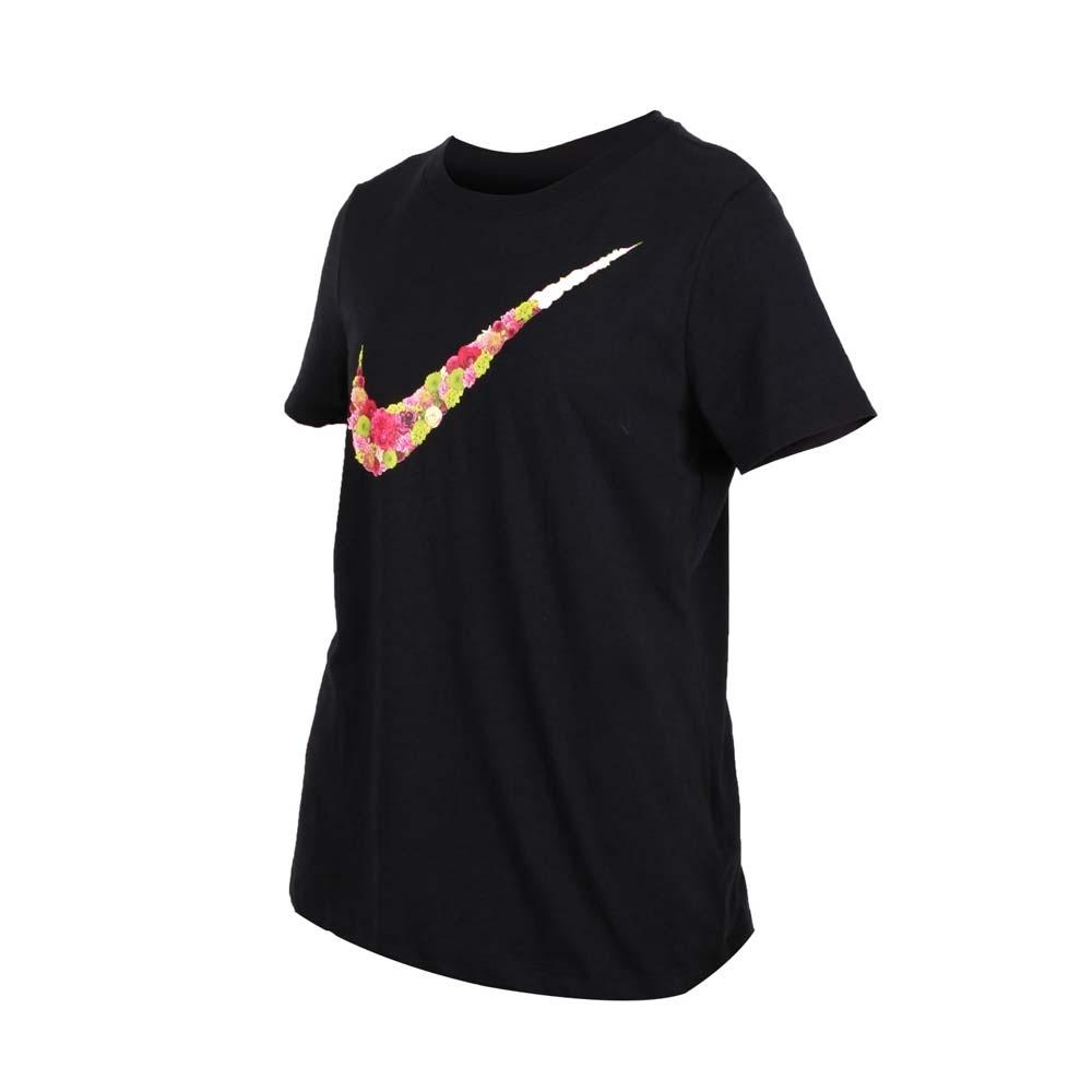 NIKE 女短袖圓領T恤-短T 路跑 慢跑 黑綠紅