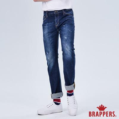 BRAPPERS 男款 中腰彈性3D直筒褲-藍