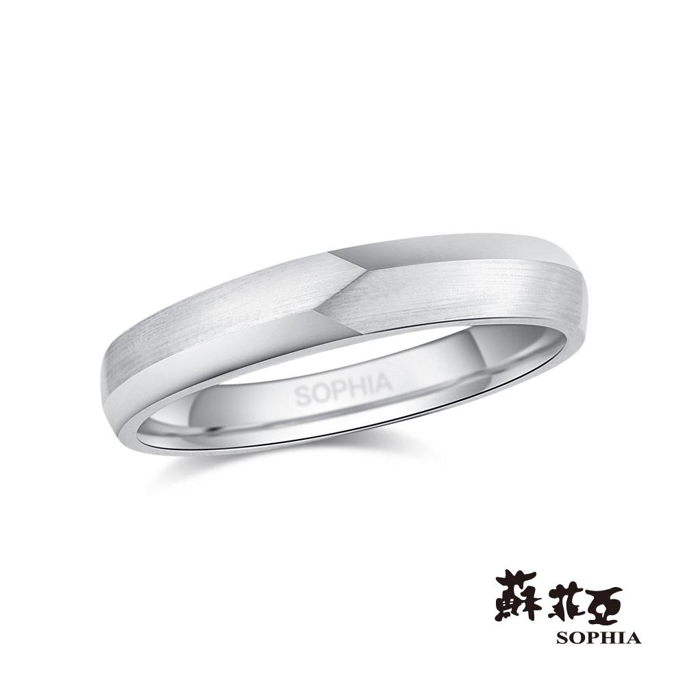 蘇菲亞SOPHIA 結婚戒指-執手鉑金鑽石男戒