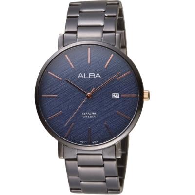 ALBA雅柏時尚紋理手錶(VJ42-X297B AS9K63X1)