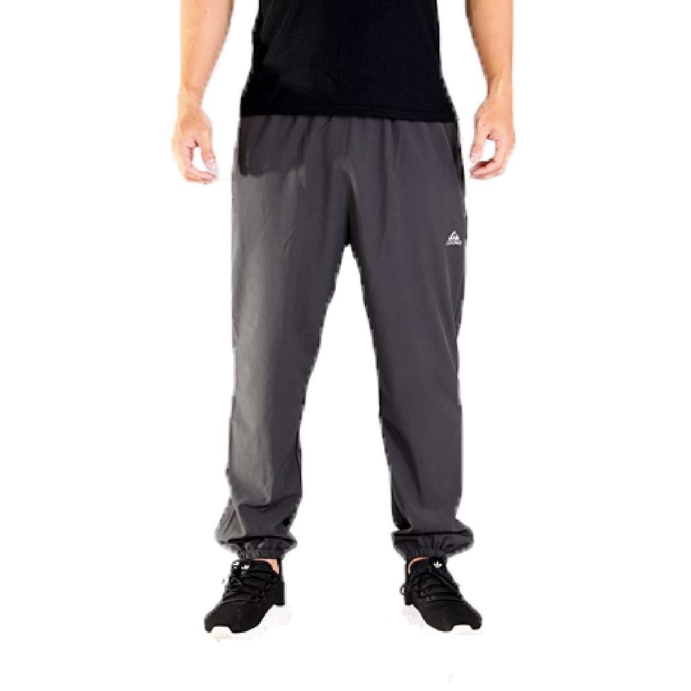 CS衣舖【涼感褲】機能涼感 吸濕排汗 口袋拉鍊 伸縮腰圍 縮口褲 運動褲 長褲 三色 (灰色)