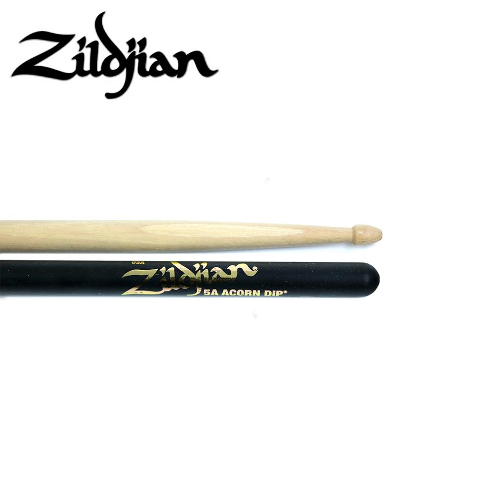 ZILDJIAN 5ACD 胡桃木鼓棒 半黑色造型款