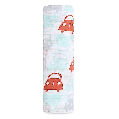美國idealbaby輕柔新生兒包巾1入-小車車IB140