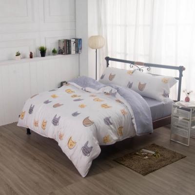 夢工場繪本童趣40支紗萊賽爾天絲四件式兩用被床包組-加大